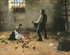 Karcsay, Lajos | Apple Harvest |  C. 1885 | Oil , Canvas  141,5 x 182 cm |   Inv.: 66.13T