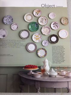 I want to do this with the plates some where in my house.