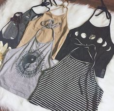 Not exactly a pattern, but this picture made me think - halter tops would be a cute way to repurpose t-shirts
