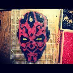 Star Wars Darth Maul peler fuse beads by rizznay