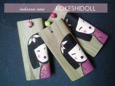 KokeshiDoll... le collanine di questa estate si tingono di rosa... spiritose e glamour..dal sapore Japan.