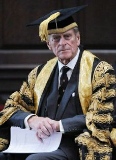 Prince Phillip, Duke of Edinburgh in academic dress, was Chancellor for 35 years of the Cambridge University from 1976 to 2011