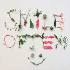 <{SMILE OFTEN}> by Holland Seydel #botanicalfont #flowerfont #flowerpower #flowerletters