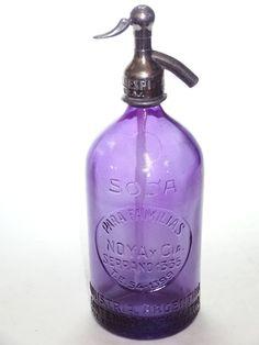 Unperfect Vintage Purple 1 Liter Syphon Bottle Soda Seltzer with Defaults   eBay