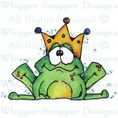 Whipper Snapper Designs is an expansive online store selling a large variety of unique rubber stamp designs. Cute Drawings, Animal Drawings, Clipart, Frog Art, Dibujos Cute, Happy Paintings, Pet Rocks, Pallet Art, Rock Crafts