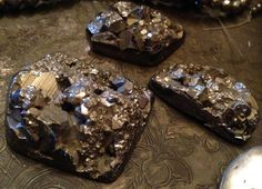 But who could pass up pyrite Druzy's? Best Location, Presents, Desserts, Food, Gifts, Tailgate Desserts, Deserts, Essen, Postres