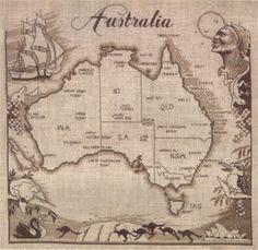 Gallery.ru / Фото #1 - Карта Австралии - natalytretyak