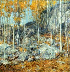 The Athenaeum - The Ledges, October in Old Lyme, Connecticut (Childe Hassam - )