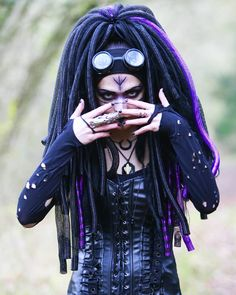"""470 Likes, 11 Comments - Miss Velika (@missvelika) on Instagram: """"Photographer and model : @missvelika ~ ~ #cyber #cybergoth #pagan #pagangoth #witch #goth #gothgoth…"""""""