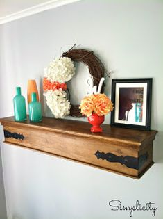 shelf decor in dining room, like the metal accents