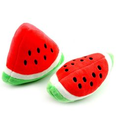 Lovely summer Soft Stuffed Pet Cat Squeak Toy for Dog Training Toy Chew Toy Toss Toy Watermelon * You can get more details by clicking on the image. (This is an affiliate link and I receive a commission for the sales)