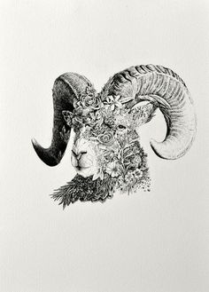 ARIES Zodiac archival prints available at: http://www.mariniferlazzo.com.au/collections/the-twelve-zodiacs