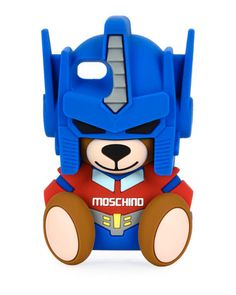 Transformer+Bear+iPhone+7+Case,+Blue+by+Moschino+at+Neiman+Marcus.