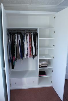 L-shpe wardrobe internal