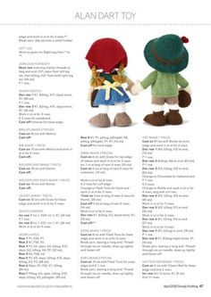 Best 11 Clothing for Edward Bear – Your Knitting Life 2012 June July – SkillOfKing. Knitted Dolls Free, Knitted Doll Patterns, Animal Knitting Patterns, Simply Knitting, Free Knitting, Knitting Toys, Alan Dart, Knitting Dolls Clothes, Knitting Magazine