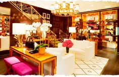 Figured out where those gold railings I've been coveting came from. Tory Burch flagship. Must go visit.