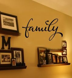 FAMILY Home Vinyl Wall sayings lettering Decal. $18.00, via Etsy.