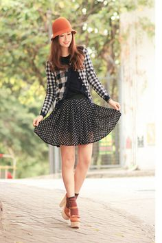 black checkered jacket