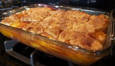 Southern Peach Cobbler omg! Just made this, freaking awesome! being the southern girl I am im just gonna have to whip this up soon