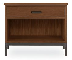 Room & Board - Linear 28w 23h One-Drawer Nightstand with Steel Base