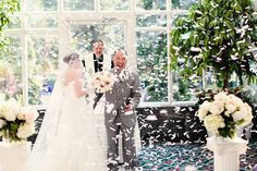 First kiss with confetti    *by Kay English Photography NJ