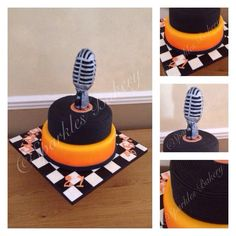 1950s microphone cake