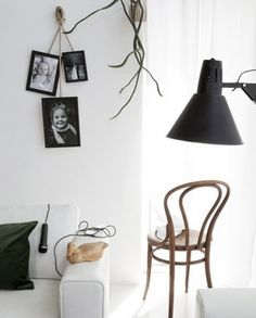 Black and white Hanging photo frames