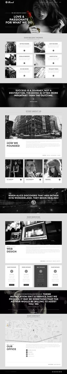 Alamak - One Page WP Portfolio Theme by WordPress Design Awards, via Behance