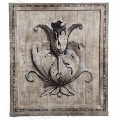 ARCHITECTURAL GRISAILLE TROMPE L'OEIL PAINTING - by Abell Auction Mural Art, Wall Murals, Grisaille, Paint Effects, Arabesque, Hand Painted Furniture, Painted Doors, House Painting, Chinoiserie