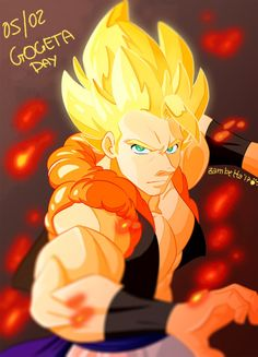 """linxchan91:  """"Gogeta day! (In my old style)  """""""