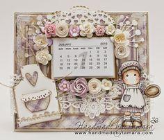 Calendar. Handmade by Tamara: October 2014 http://www.handmadebytamara.com/2014/10/anything-goes-at-tildas-town.html