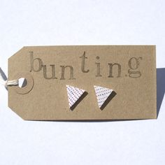 Bunting earrings made from shrink plastic
