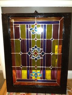 Diy stained Glass window panes