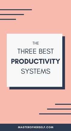 Ever wanted a simpler, more effective productivity system? Check out my top 3 productivity systems here.