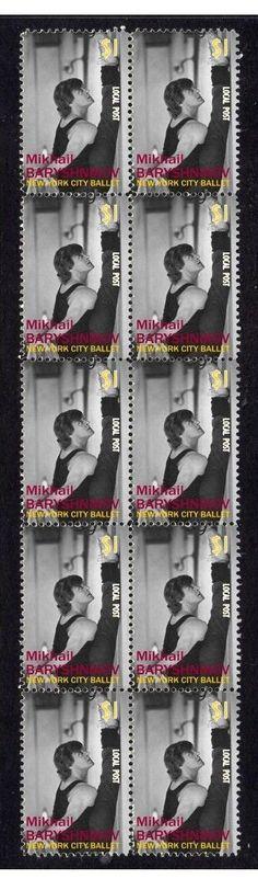 Mikhail Baryshnikov NY Ballet Strip of 10 Mint Stamps 4 | eBay