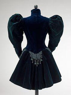 Вечерний жакет. Бархат, вышивка стеклярусом. Augustine Martin & Company, Франция, 1895 г.