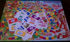 Sight Words Candyland and my list of words, plus a link to Hasbro to order more cards. did-it