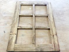 Build this easy DIY decorative window frame and make your seasonal decorating swaps as easy as switching a wreath. Perfect for Christmas and all year! Rustic Window Frame, Window Frame Decor, Wooden Window Frames, Rustic Frames, Window Panes, Window Ideas, Outdoor Dining Furniture, Wooden Diy, Diy Wood