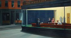 The American painter Edward Hopper gets an animated update in these stylish GIFs from Spain artist Ibon Mainar.  Subtle movements are added to the shadow-strewn, stoic paintings of scenes from urban American life—scenes that are imbued with emotions like loneliness and boredom. So we get curtains and dresses twitching as if moved by the wind or changes in color to denote the movement of light, or the nodding heads of the diners in Nighthawks.