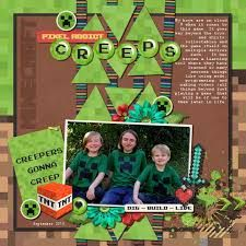 Image result for minecraft scrapbook LAYOUT