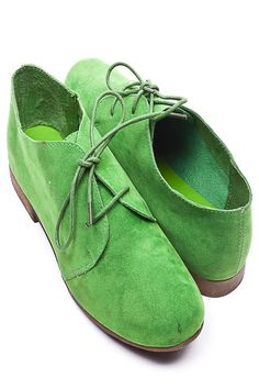 apple green oxfords