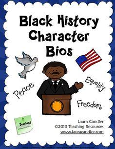 Black History Month Bios - Freebie  #tolerance #diversity
