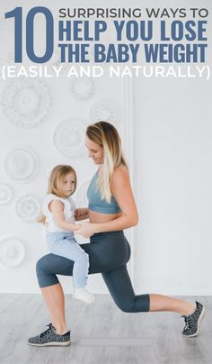 Losing post-pregnancy weight can be a difficult battle for anyone. Here are 10 easy things to incorporate to help you lose that baby weight naturally. Workout To Lose Weight Fast, Lose Weight At Home, Lose Weight Naturally, Reduce Weight, How To Lose Weight Fast, Losing Weight, Weight Loss, Lose Stomach Fat Fast, Lose Lower Belly Fat