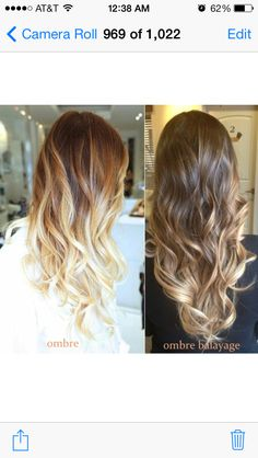 Ombre vs ombre balayage