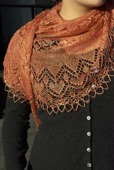 Exuberance Lace Weight Shawl: http://throughtheloops.typepad.com/through_the_loops/2013/05/exuberance-joy.html