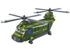 Força Tática Helicóptero Cargueiro 415 Peças - BanBao