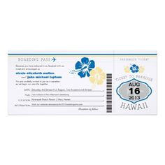 See MoreHawaii Boarding Pass Wedding Custom AnnouncementThis site is will advise you where to buy