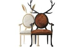 Handmade Hybrid Chairs by Merve Kahraman. I can imagine Alice in Wonderland sitting in them.