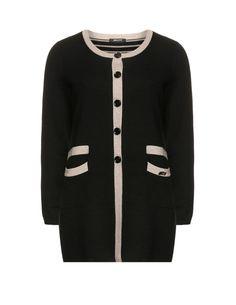Elena Miro - Strickjacke in Schwarz/Beige (Gr��e 42 - 56) Pullover #topmodeforwinter #nice #Pullover #anna7891 #newfashion www.2dayslook.com