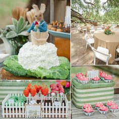 Love this garden and Peter Rabbit-themed first birthday party. #BabyCenterBlog #PopSugarMoms
